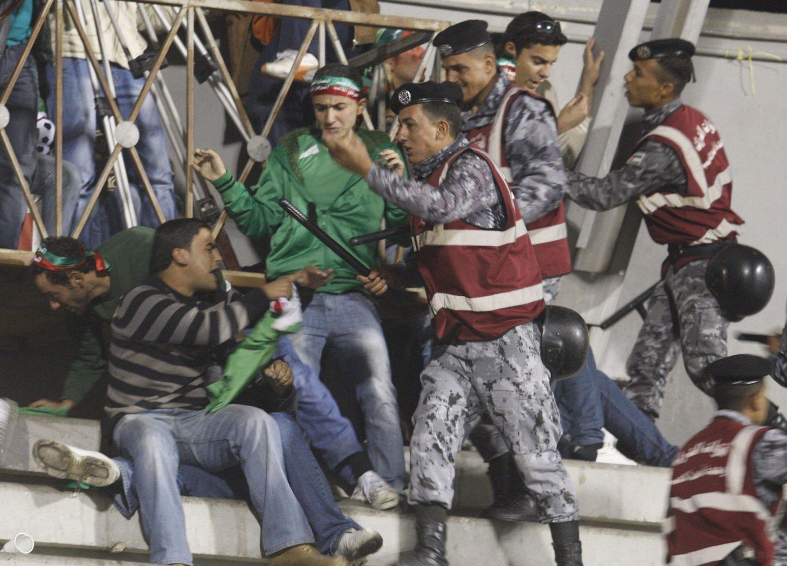Jordanien Gewalt Fußballspiel