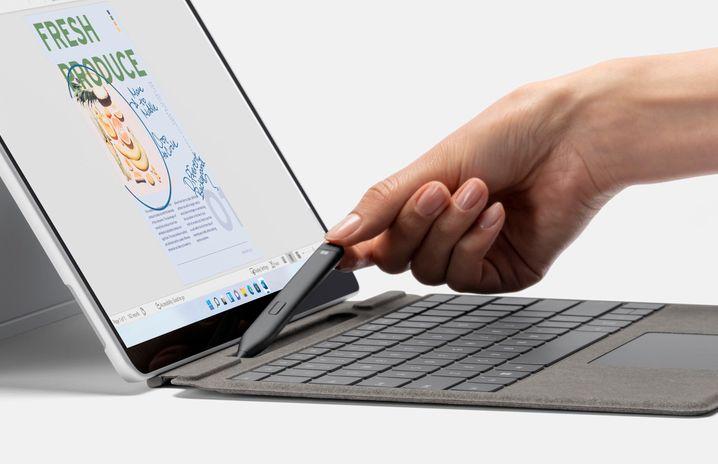 Stift inside: Für den neuen Digitalstift haben Microsofts Tastaturen eine integrierte Magnethalterung