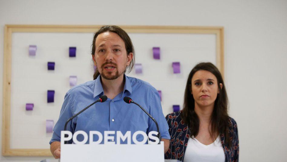Pablo Iglesias und Irene Montero