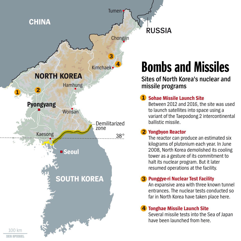 ENGLISH VERSIN GRAFIK DER SPIEGEL 17/2017 Seite 14 - Bombs and Missiles - Bomben und Raketen