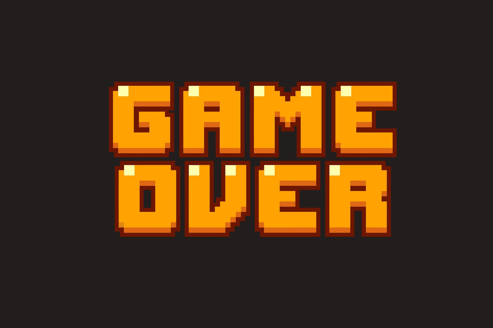 Game over typography Fashion slogan