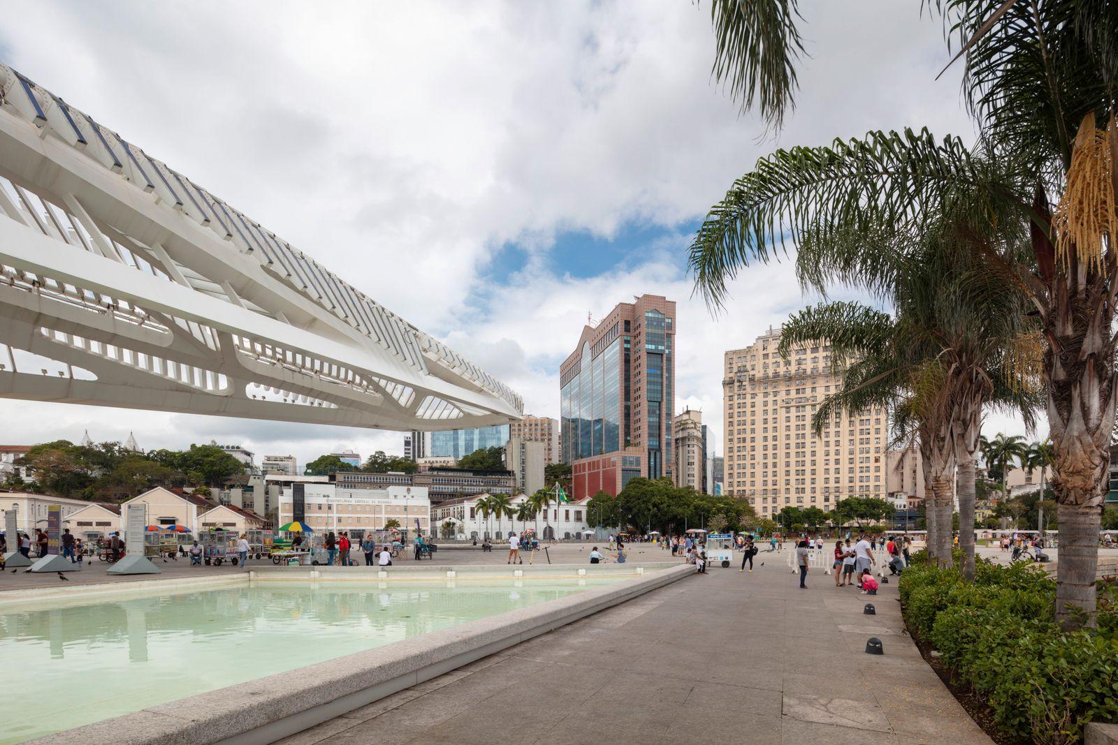 Museu do Amanhã (muesum of tomorrow) designed by Santiago Calatrava, Rio de Janeiro, Brazil