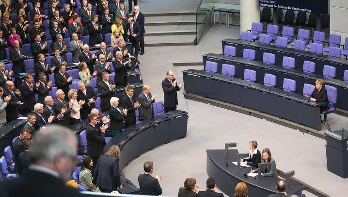 Ernennung, Vereidigung, Aufregung: Familienfest im Bundestag