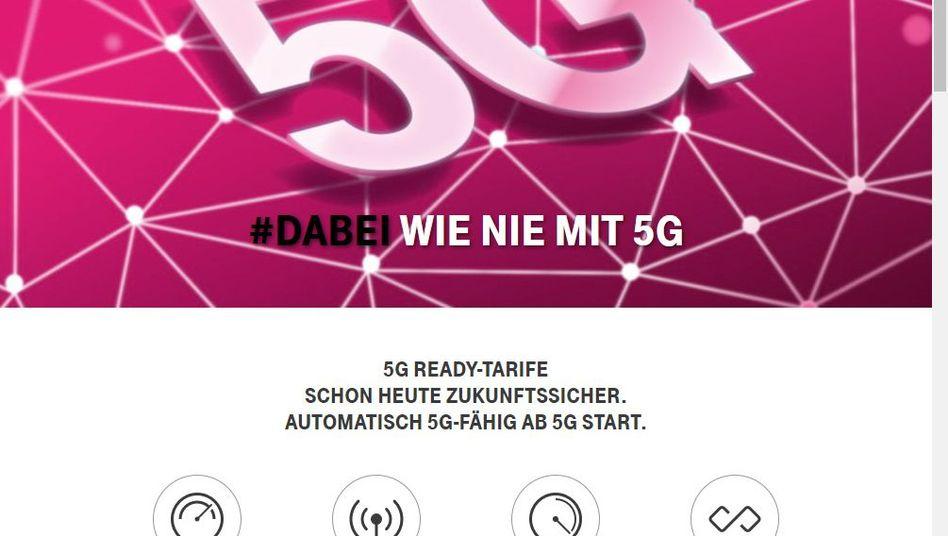 """Telekom-Website zu den neuen """"5G Ready-Tarifen"""""""