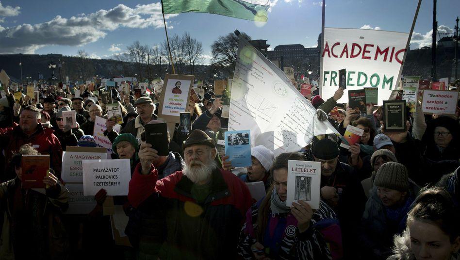 Streik ungarischer Wissenschaftler (Archiv)