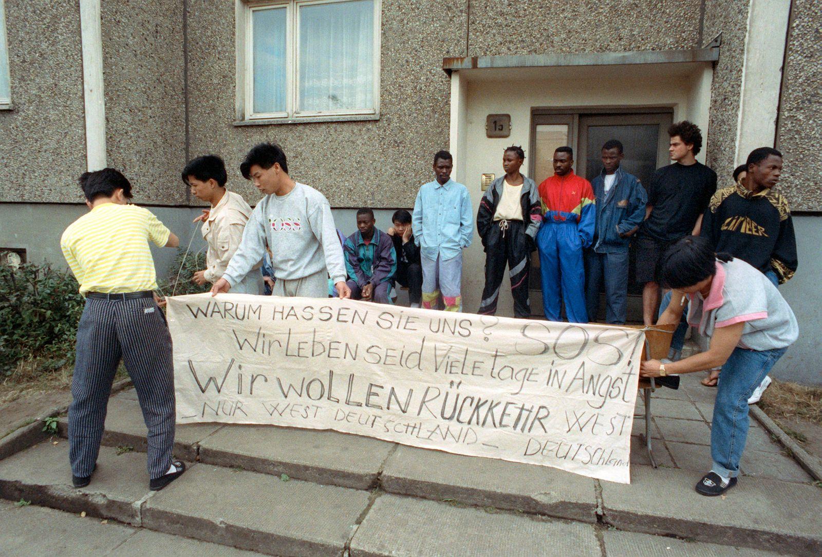 25 Jahre nach fremdenfeindliche Ausschreitungen in Hoyerswerda