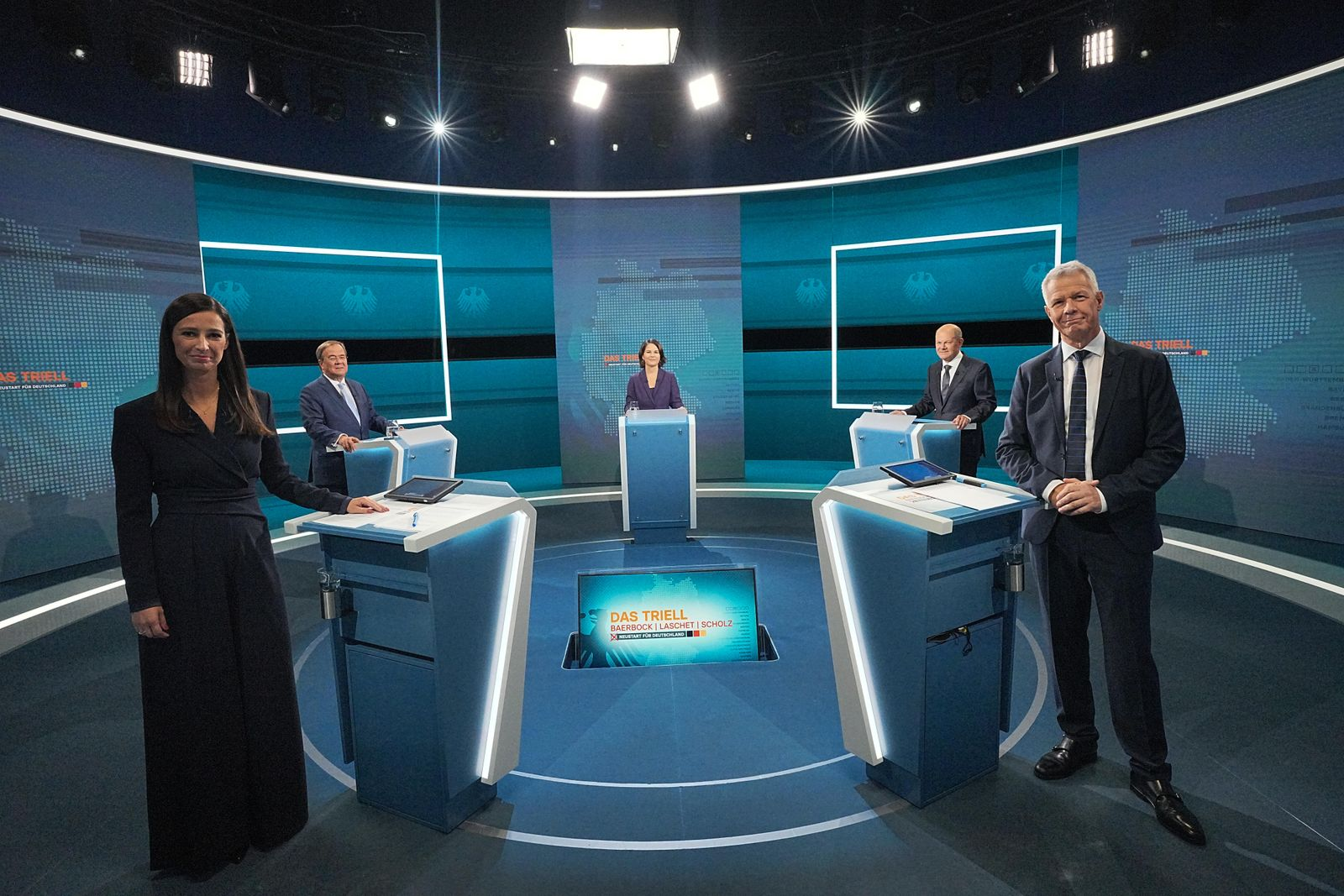 RTL Hosts Debate Of Chancellor Candidates