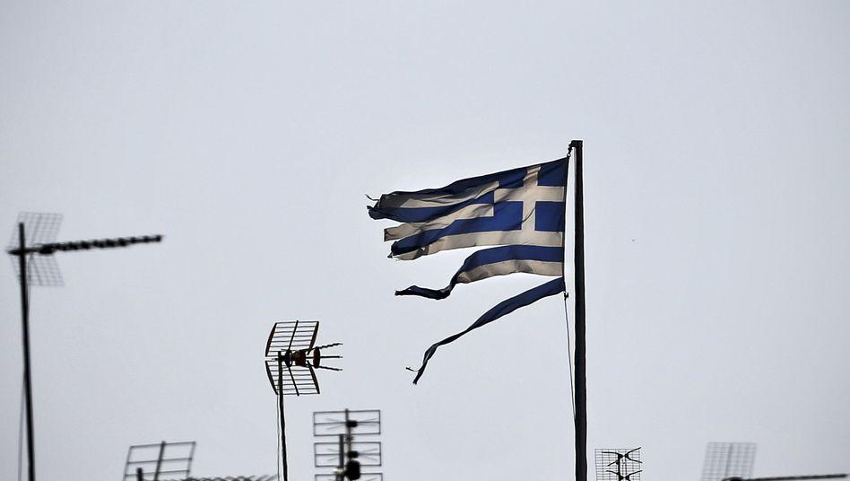 Griechische Flagge (in Athen)