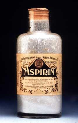 Aspirinflasche von 1899: Der Wirkstoff beugt Erkrankungen von Herz und Kreislauf vor