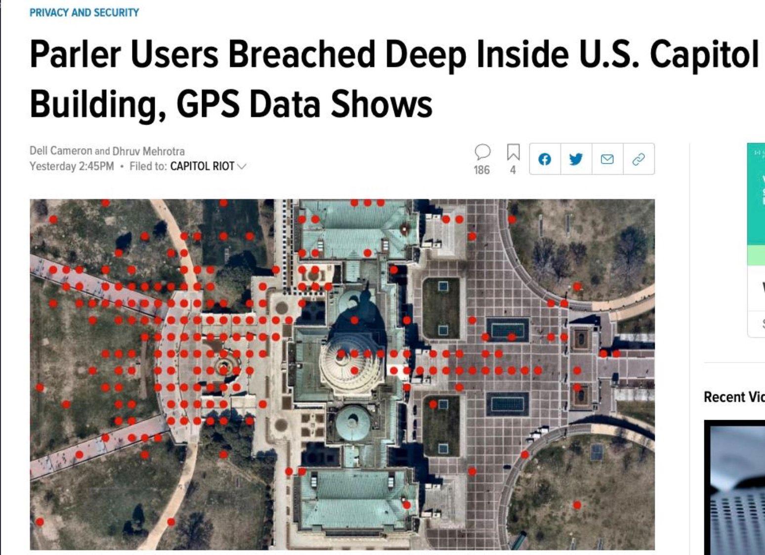 U.S. Capitol Building, GPS Data