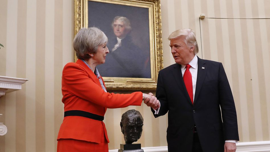 Theresa May, Donald Trump im Oval Office