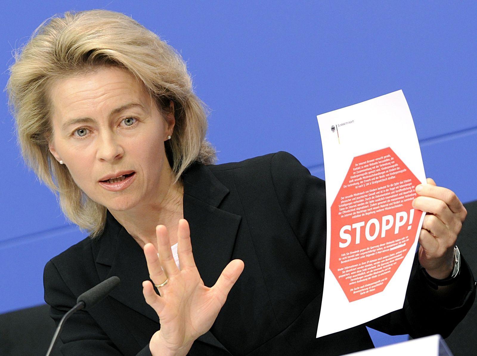 Ursula von der Leyen 2009 / Internetsperren