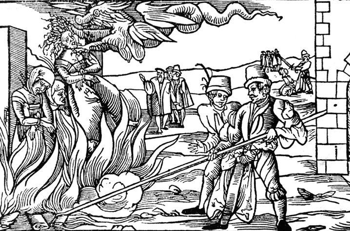 Hexenverbrennung zu Dernburg im Jahre 1555