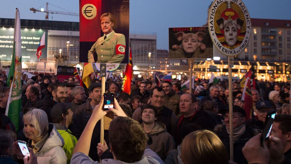 Pegida-Demo am Montag: Schriller Ton, mehr Teilnehmer