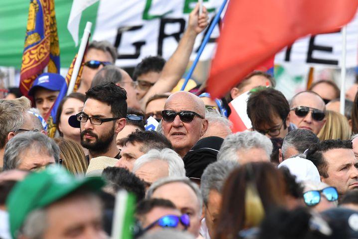 Anhänger in Rom: Inhaltlich erzählte Salvini nichts Neues