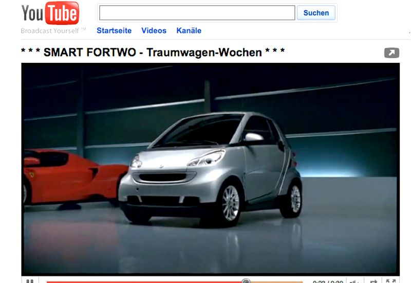 EINMALIGE VERWENDUNG Smart-Werbespot / Screenshot