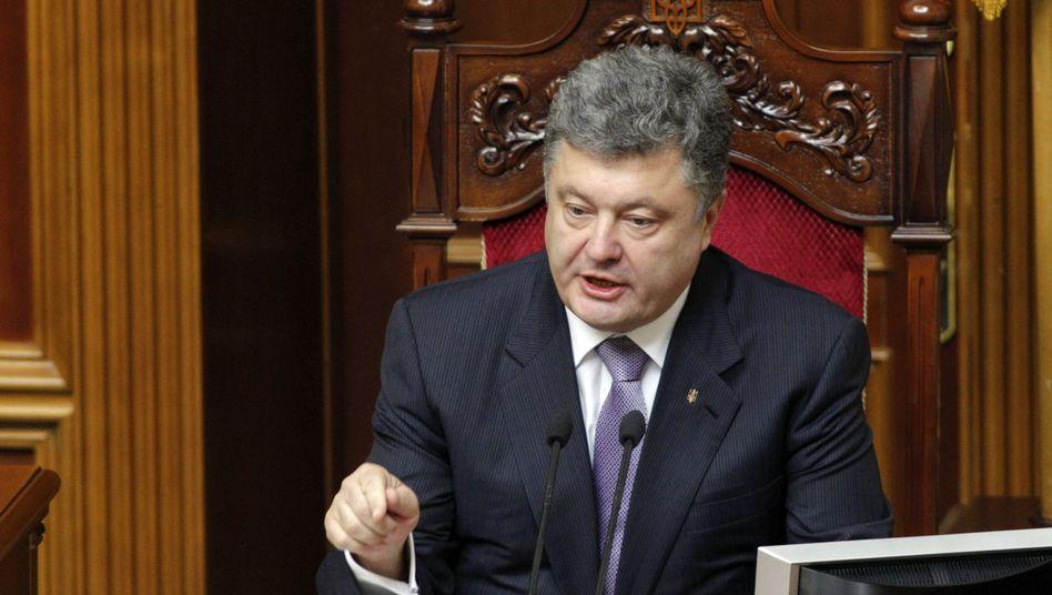 Ukrainischer Präsident Poroschenko: Neues Konzept für baldige Entspannung