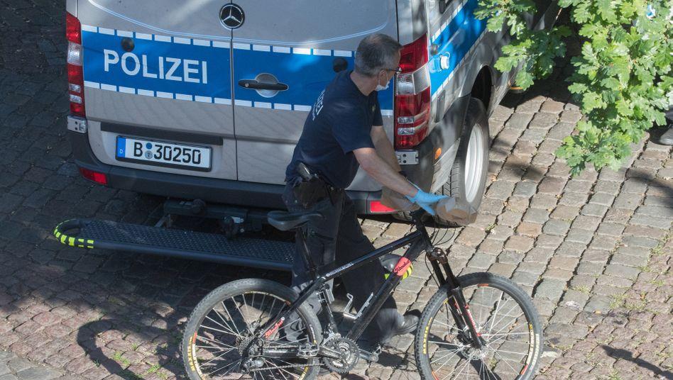 Fahrrad am Tatort in Berlin