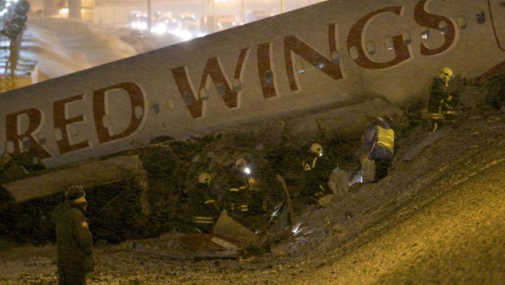 Flugzeugabsturz in Moskau: Bremsversagen als Unglücksursache