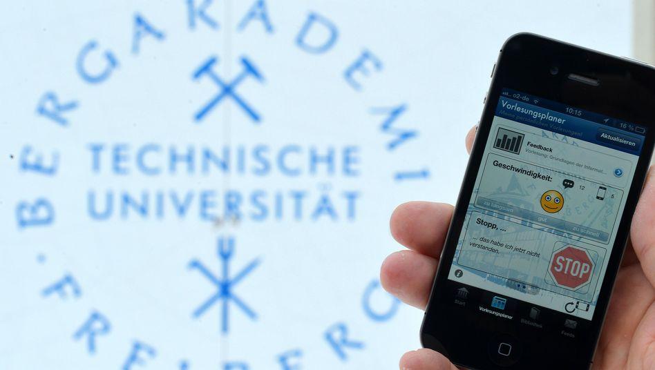 Die myTU-App der Uni Freiberg: Feedback in Echtzeit