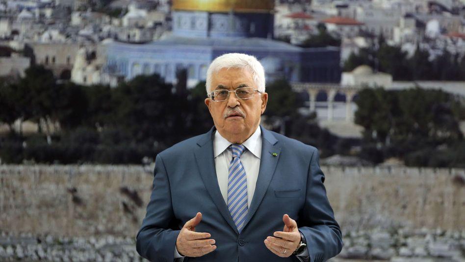 Palästinenserpräsident Mahmud Abbas: Fernsehauftritt nach Verhandlungen