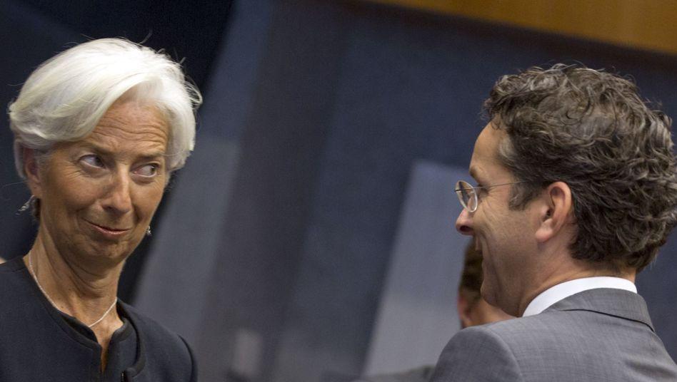 IWF-Chefin Lagarde, Euro-Gruppen-Chef Dijsselbloem: Verstimmung bei den Gläubigern?