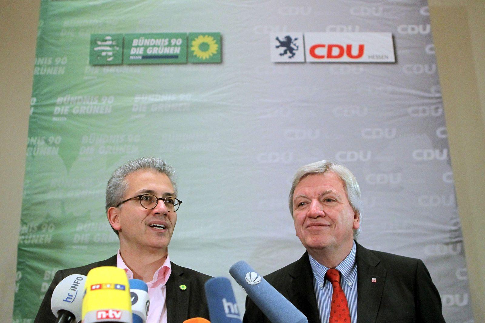 Große Koalitionsrunde Schwarz-Grün in Hessen
