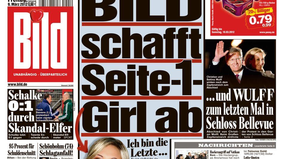"""""""Bild""""-Titelseite von diesem Freitag: Zum letzten Mal mit """"Girl"""""""