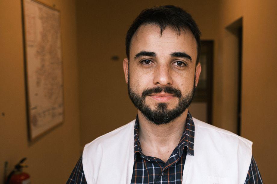 Fabio Biolchini, 39, leitet das Feldkrankenhaus von Ärzte ohne Grenzen im Süden von Sierra Leone