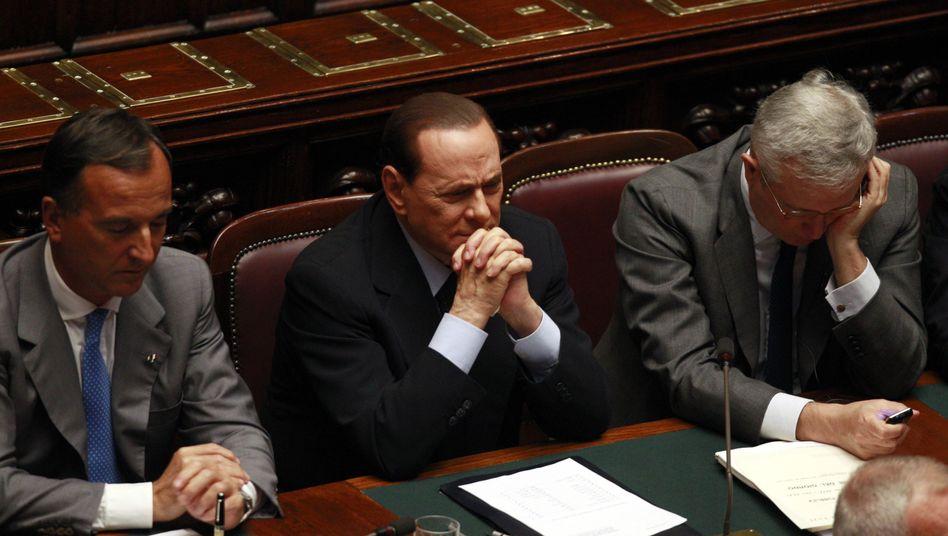 Berlusconi im Parlament: Der Ministerpräsident bittet die Anleger um Vertrauen