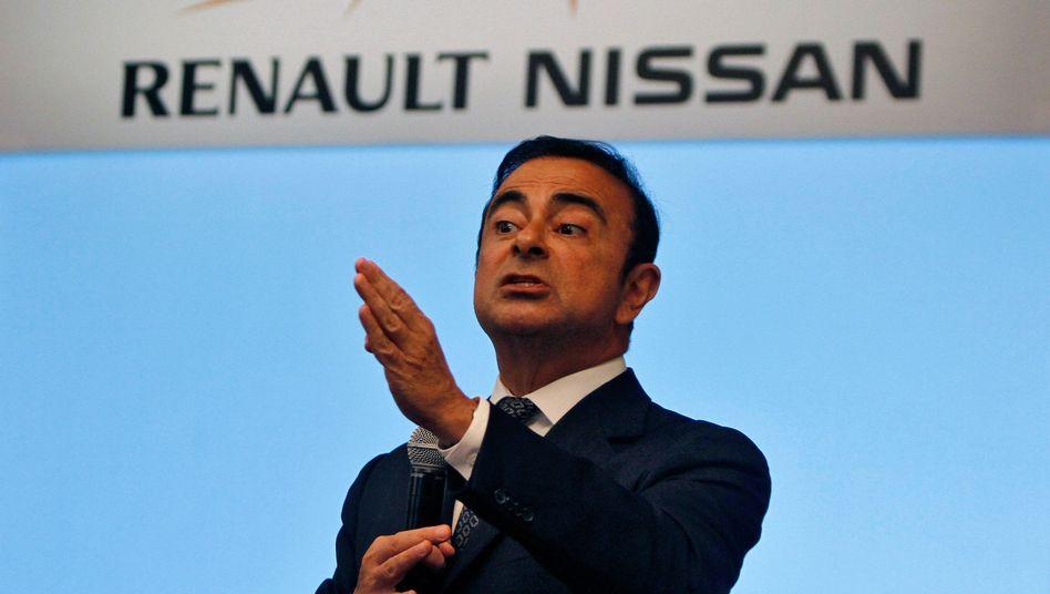 Carlos Ghosn: Der Renault-Nissan-Chef bei einer Konferenz in Indien