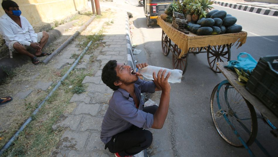 Im indischen Jammu erreichten die Temperaturen Werte von bis zu 45 Grad