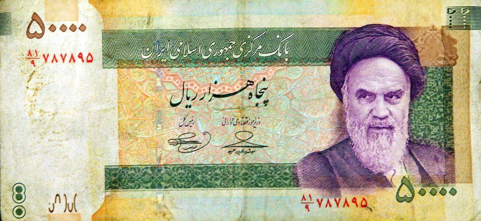 Iranische Banknote: In Iran bezahlen die meisten Menschen in bar