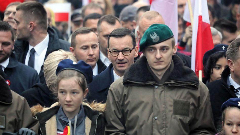 Mateusz Morawiecki, Premier, am Nationalfeiertag