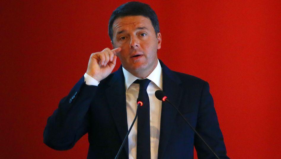 Italienischer Premierminister Matteo Renzi
