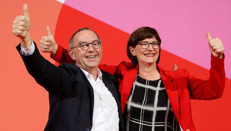 """Saskia Esken and Norbert Walter-Borjans: """"Wir haben gestritten und waren immer freundschaftlich dabei"""""""