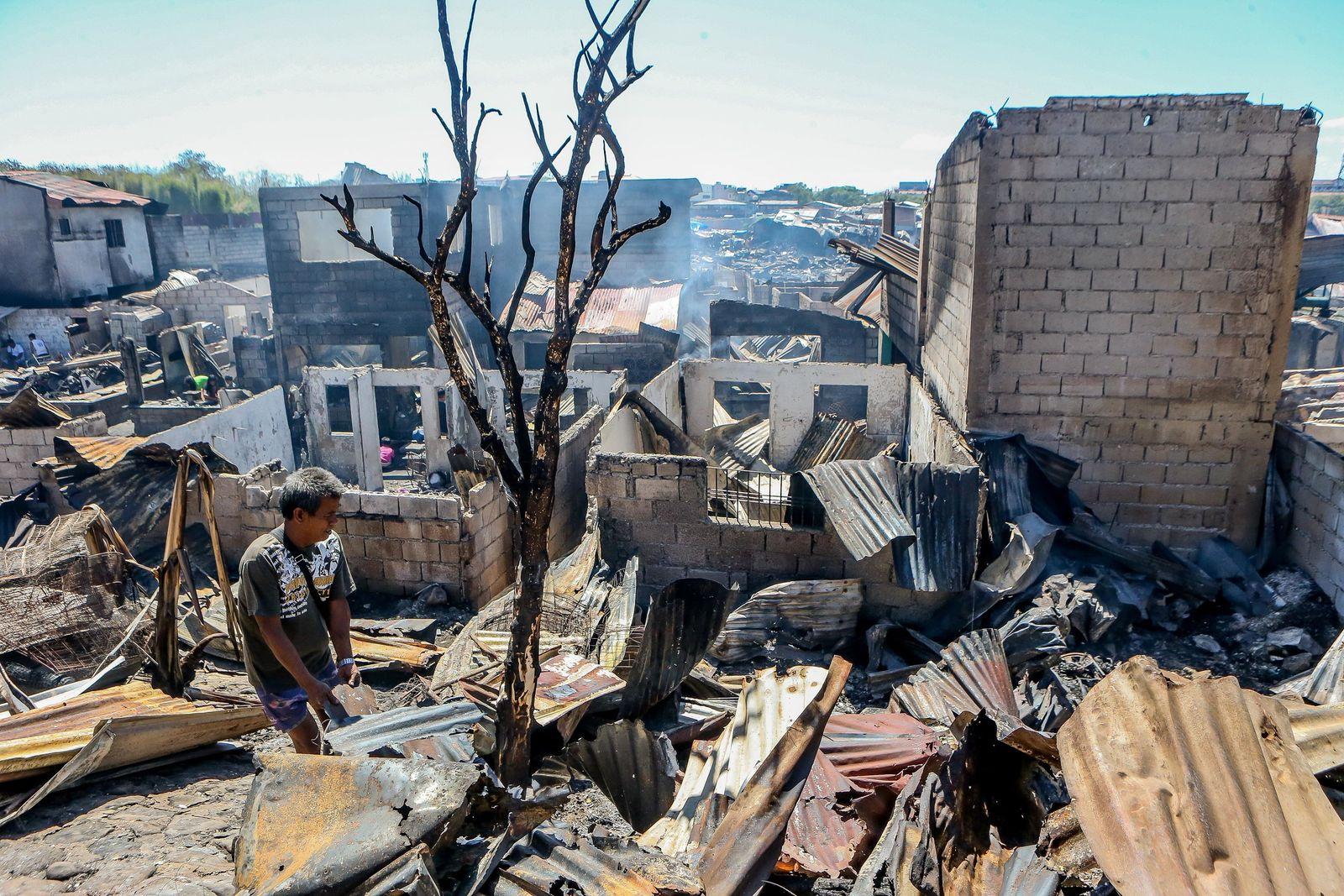 Brand in einem Wohnhaus in Philippinen