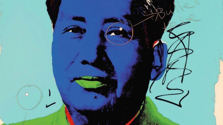 Mao-Bild von Warhol mit Einschüssen