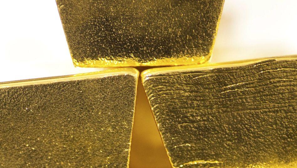 Goldbarren: Insgesamt besitzt die Deutsche Bundesbank 3396 Tonnen Gold