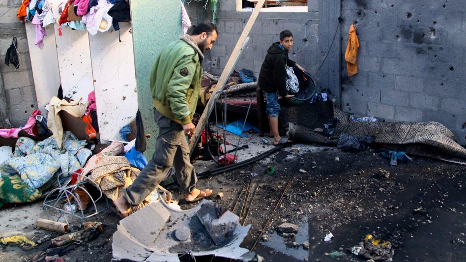 Zerstörtes Haus in Gaza-Stadt: Spannungen nehmen zu