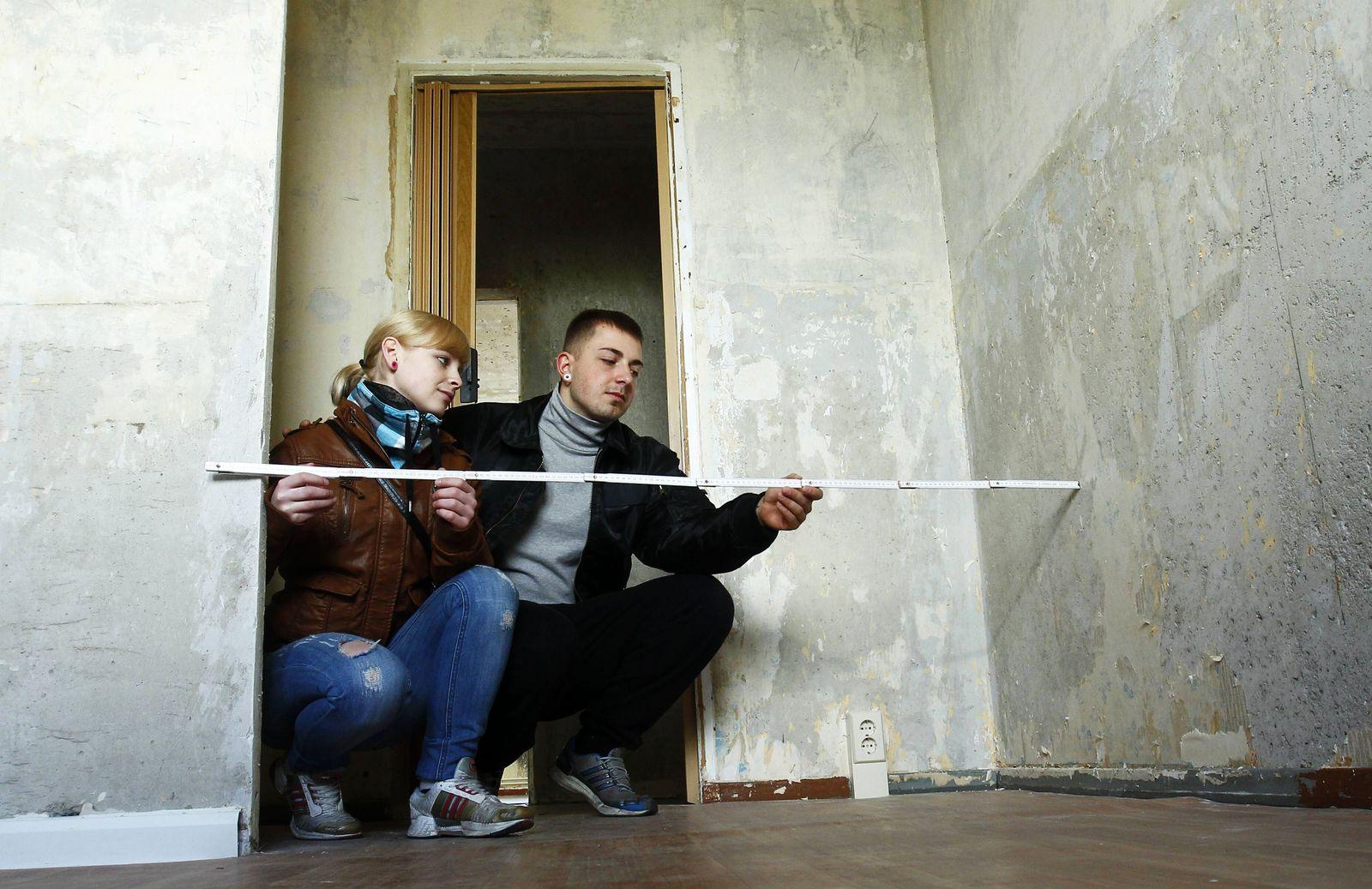 EINMALIGE VERWENDUNG Zollstock Wohnung messen