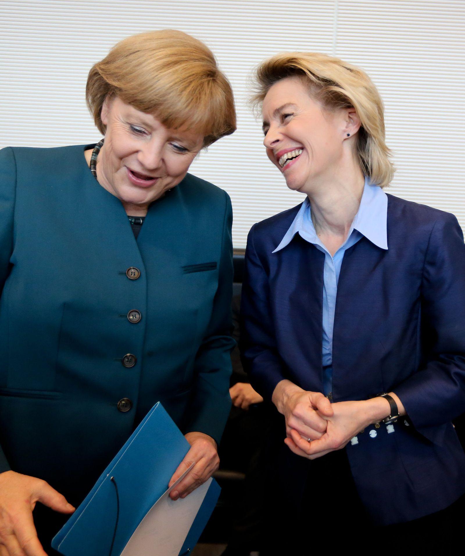 Merkel von der Leyen Frauenquote