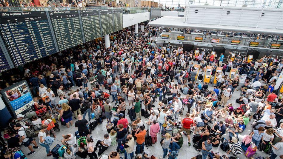 Flughafen München am Samstag