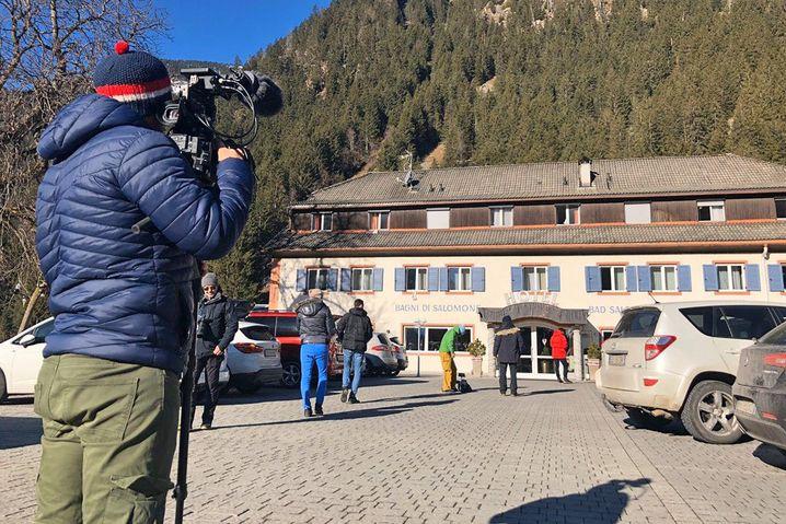 Das Hotel des russischen Teams in Antholz