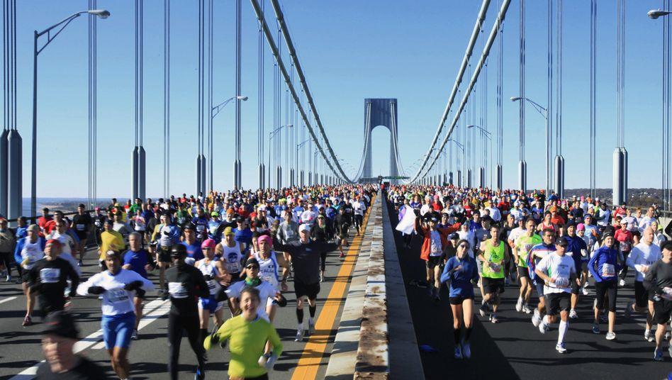 New-York-Marathon (Archivbild): Jährlich mehr als 40.000 Teilnehmer