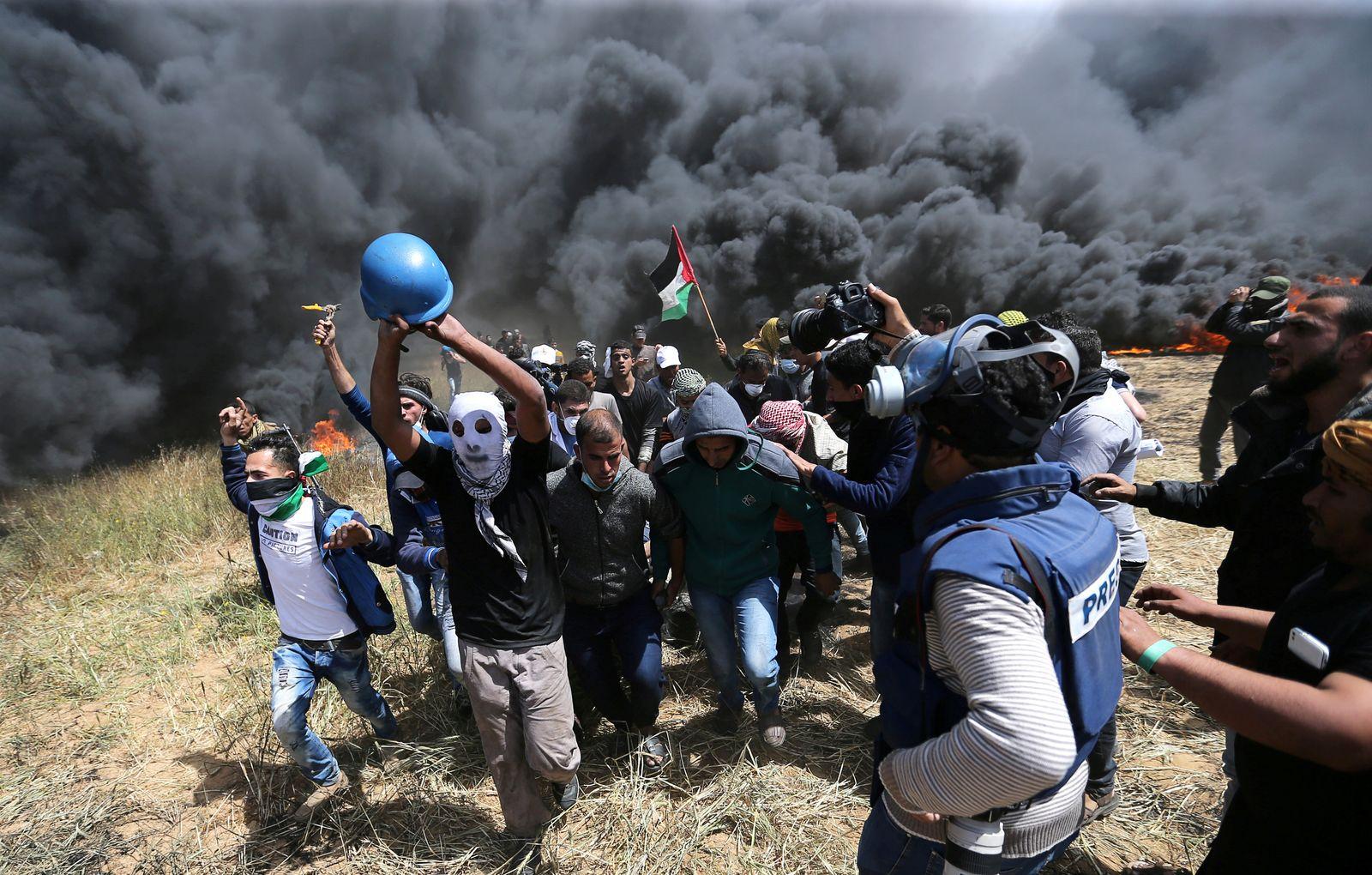ISRAEL PALESTINIA Gaza Proteste