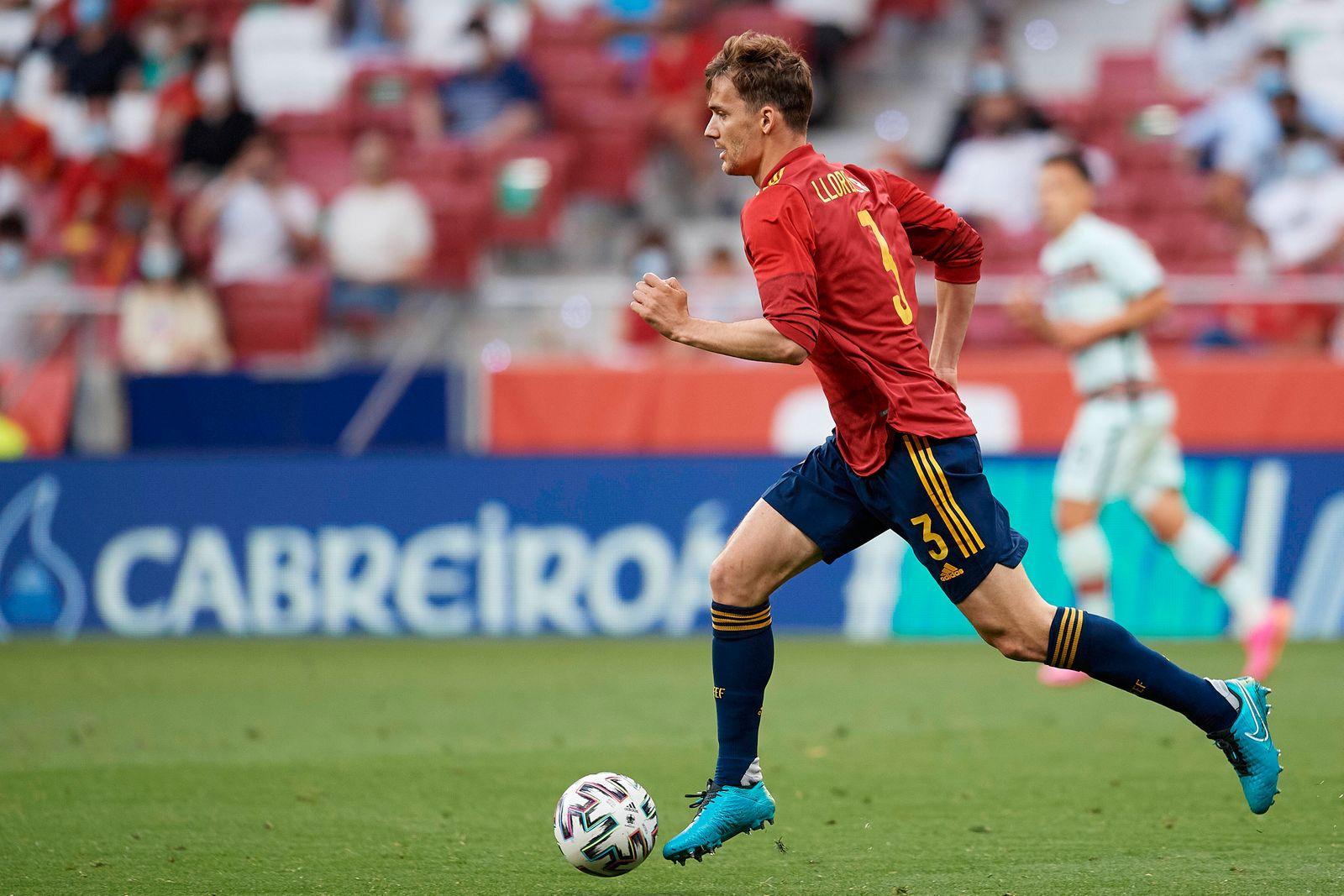 Spain v Portugal - International Friendly, Länderspiel, Nationalmannschaft Diego Llorente (Leeds United) of Spain runs w