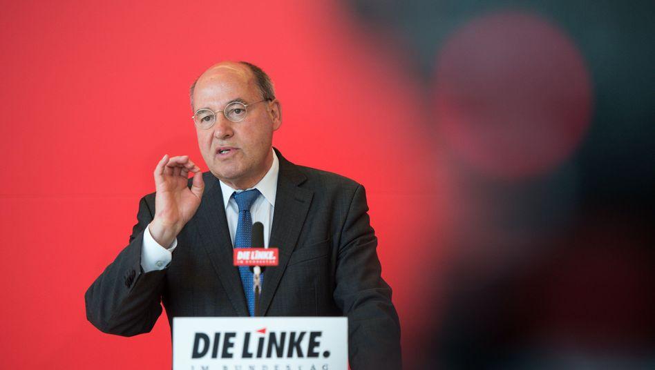 """Linken-Fraktionsvorsitzender Gysi: """"Das ist völlig unzureichend, das ist auch indiskutabel"""""""