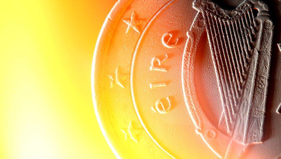 Eine irische Ein-Euro-Münze: Das Vertrauen der Anleger in Irland wächst