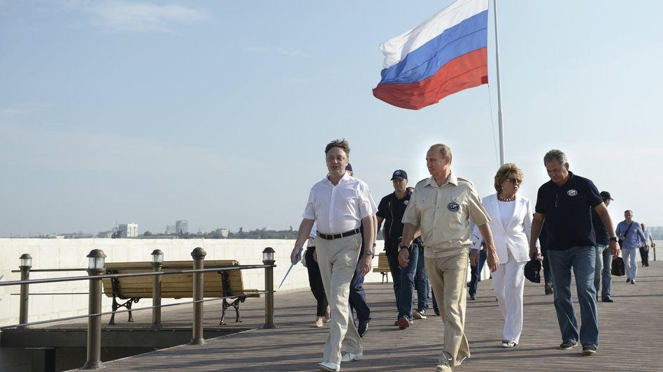 Wladimir Putin bei einem Besuch auf der Krim